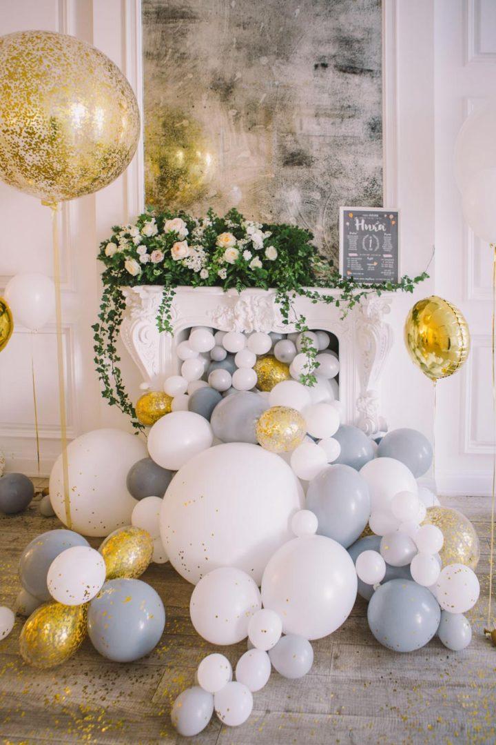 креативное оформление свадьбы шарами 5
