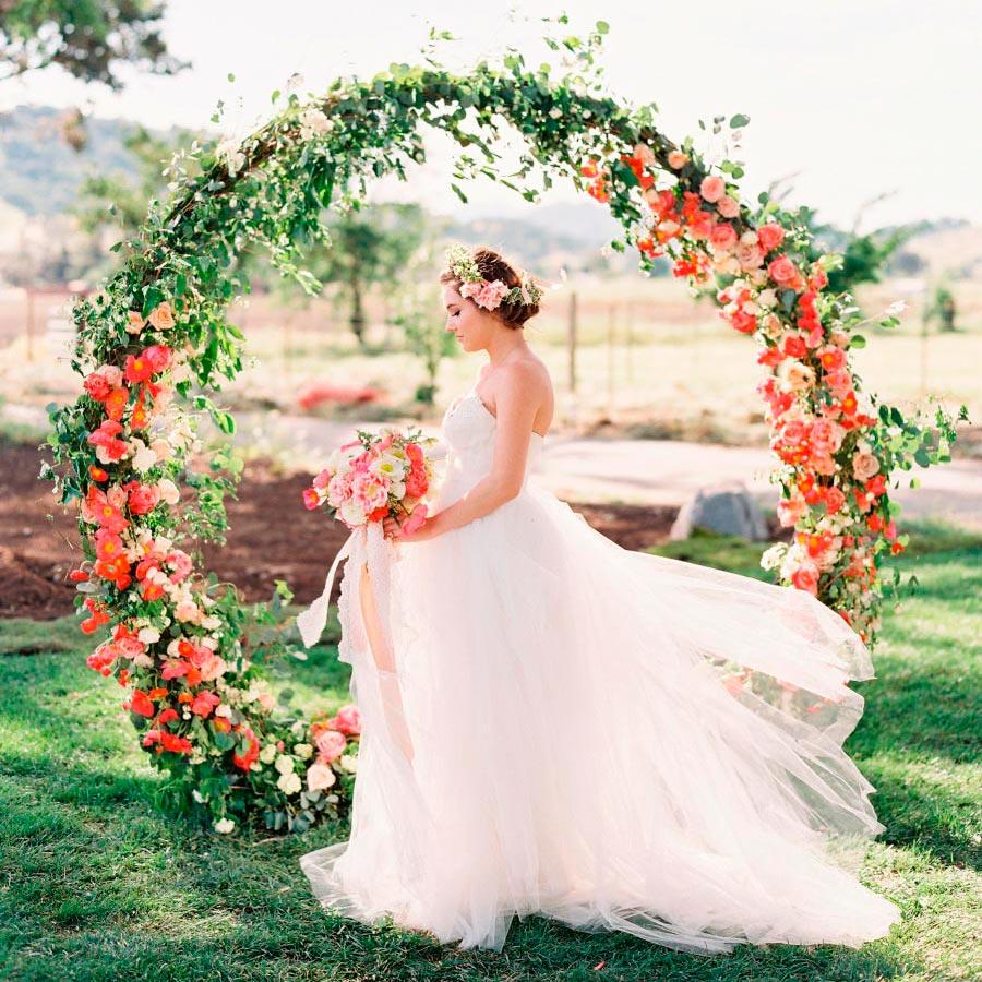 17 идей оформления свадьбы цветами 23