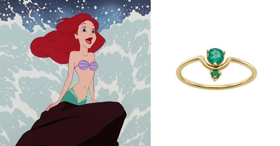 помолвочные кольца в стиле принцесс disney 5