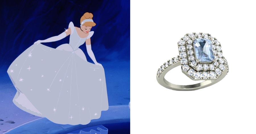 помолвочные кольца в стиле принцесс disney 7