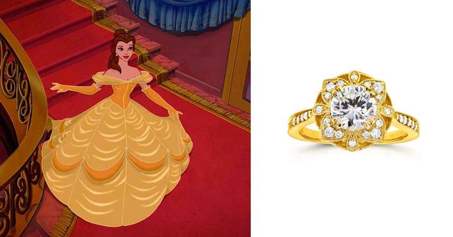 помолвочные кольца в стиле принцесс disney 8