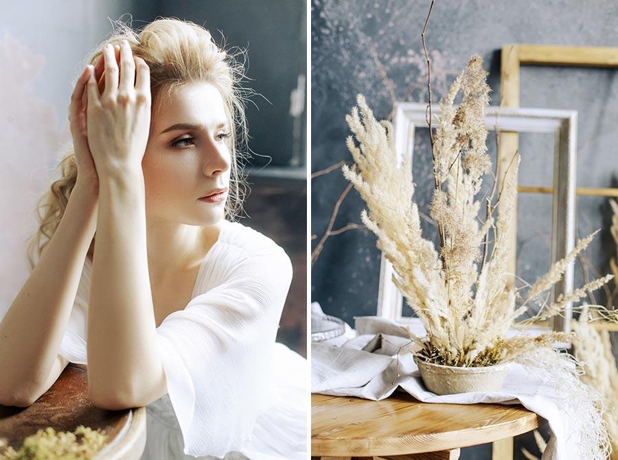 неувядаяющая красота съемка с сухоцветами 3