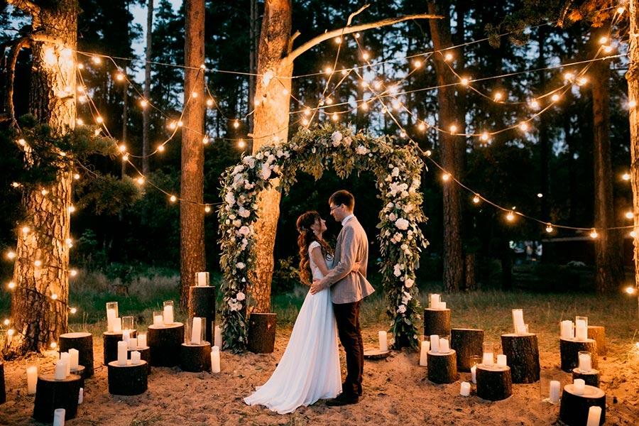 вечерняя свадебная церемония 1
