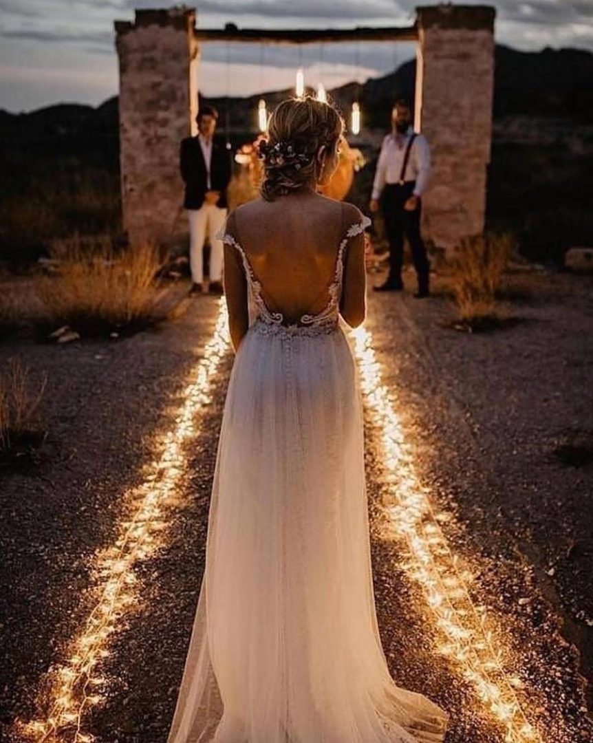 вечерняя свадебная церемония 4