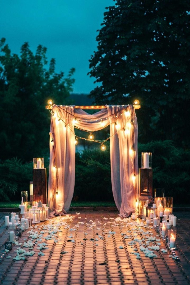 вечерняя свадебная церемония 5