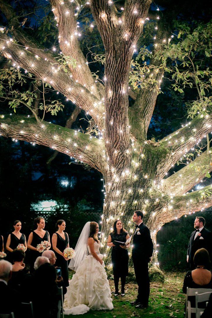 вечерняя свадебная церемония 9