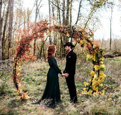 25 осенних свадебных арок