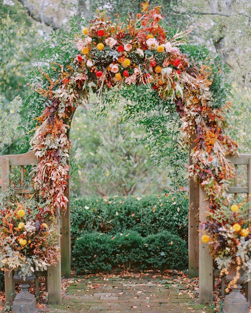 25 осенних свадебных арок 14