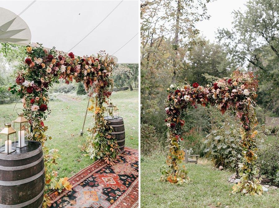 25 осенних свадебных арок 15