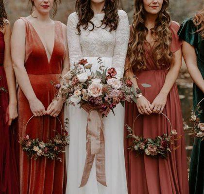 Идем на осеннюю свадьбу — 50 платьев для гостей