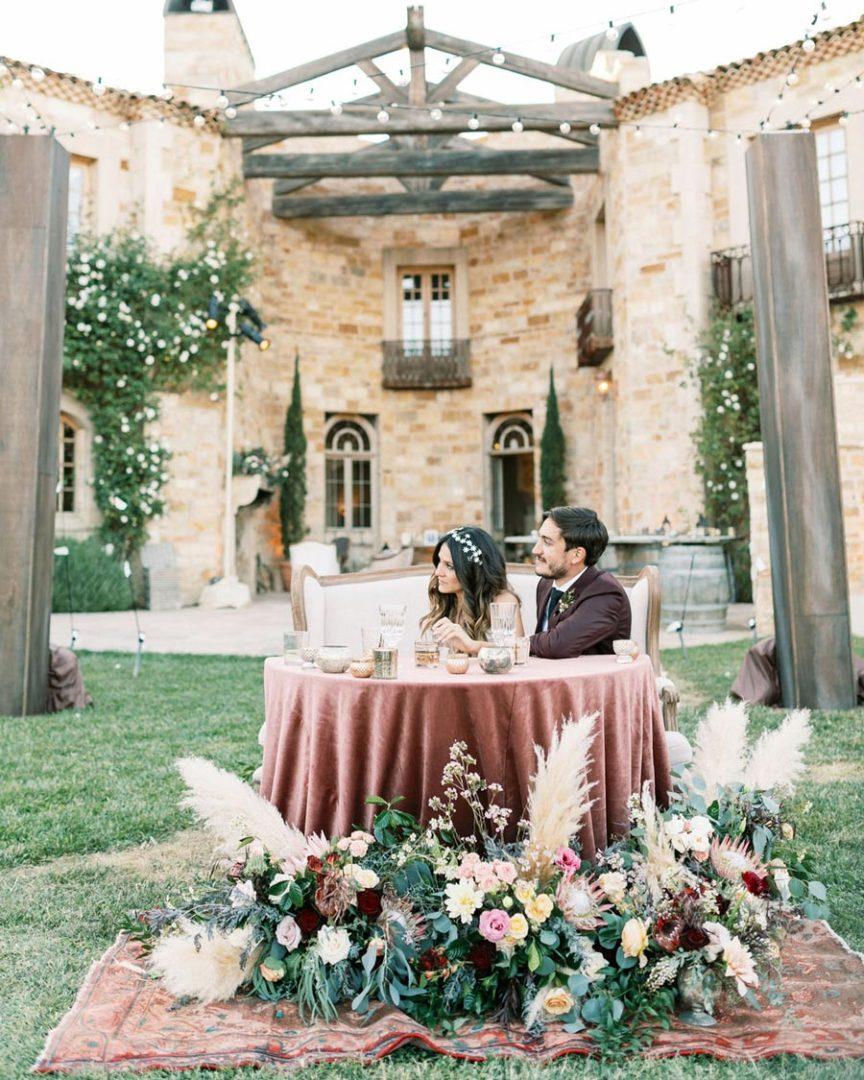 новый тренд бархат на свадьбе 13