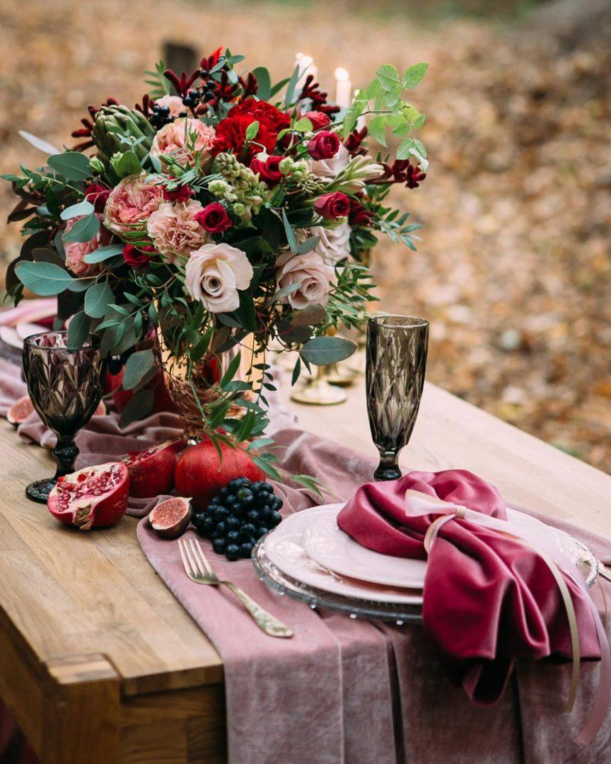 новый тренд бархат на свадьбе 14
