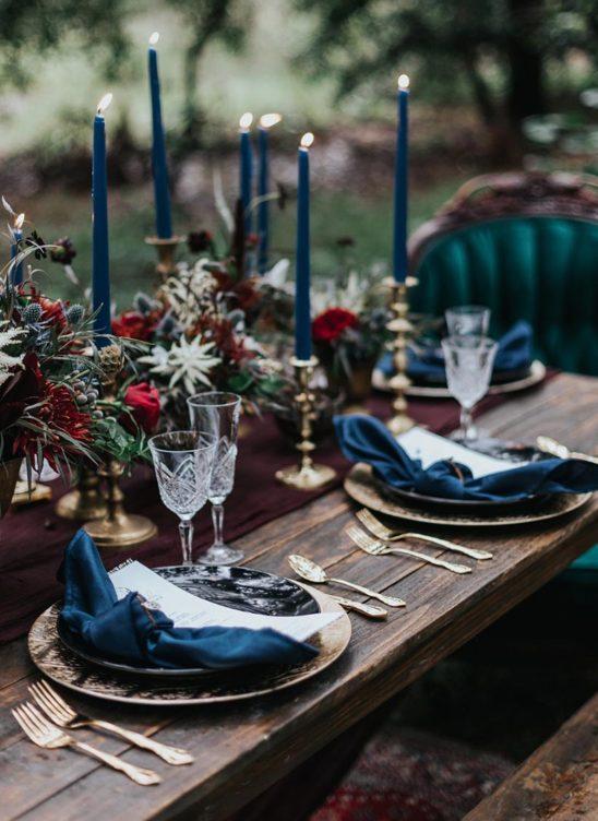 Новый тренд — бархат на свадьбе