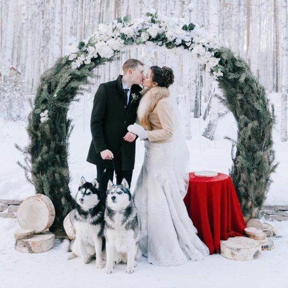 25 зимних свадебных арок