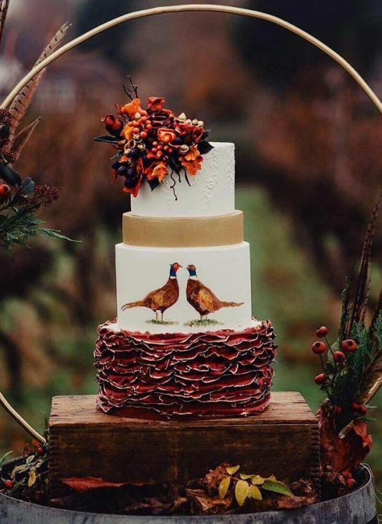 Осенний свадебный торт – начинки и декор
