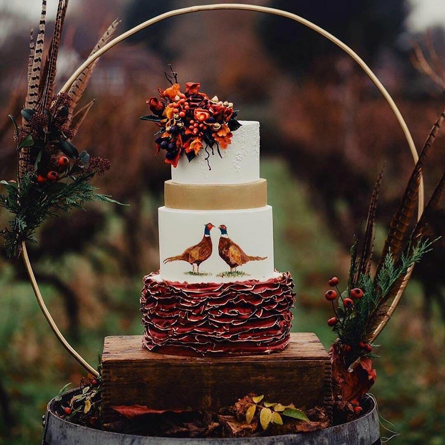 осенний свадебный торт начинки и декор 1