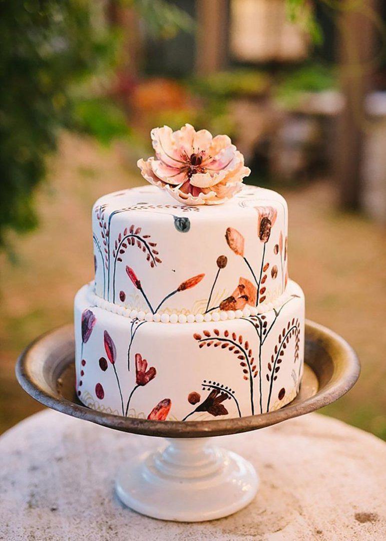 осенний свадебный торт начинки и декор 10
