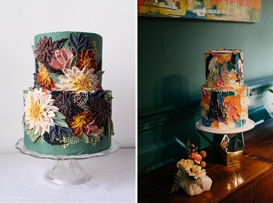 осенний свадебный торт начинки и декор 11