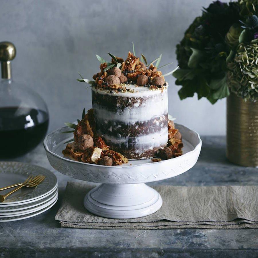 осенний свадебный торт начинки и декор 2