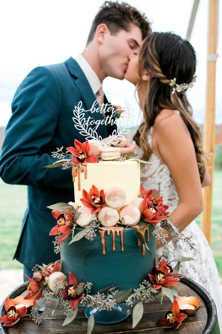 осенний свадебный торт начинки и декор 3