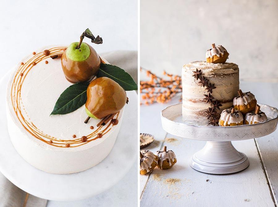 осенний свадебный торт начинки и декор 4