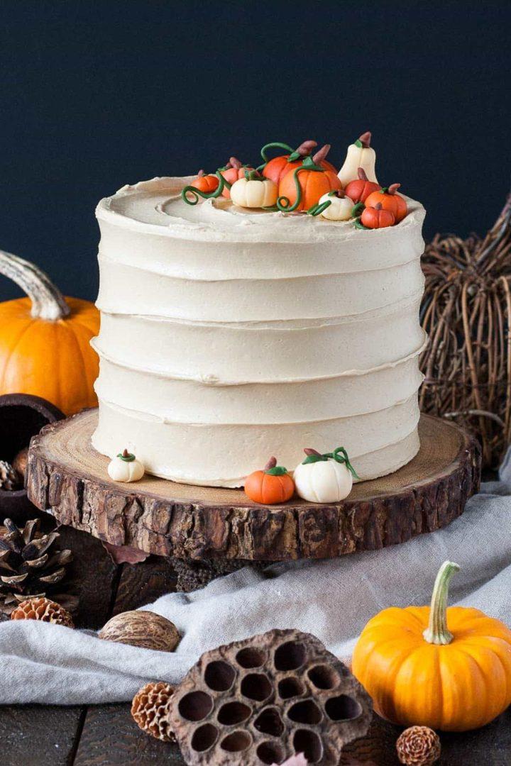 осенний свадебный торт начинки и декор 5