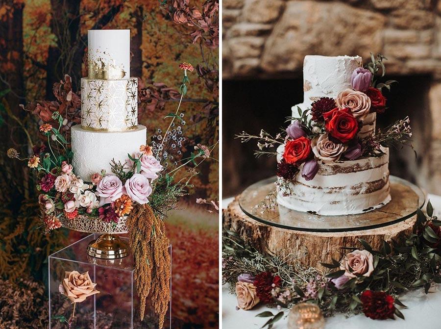 осенний свадебный торт начинки и декор 8