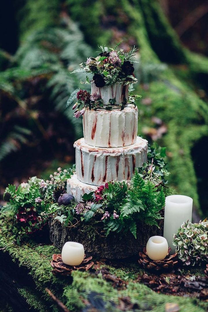 осенний свадебный торт начинки и декор 9