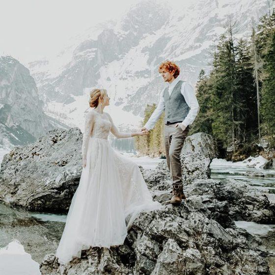 Свадьба в Альпах для Давиде и Юли