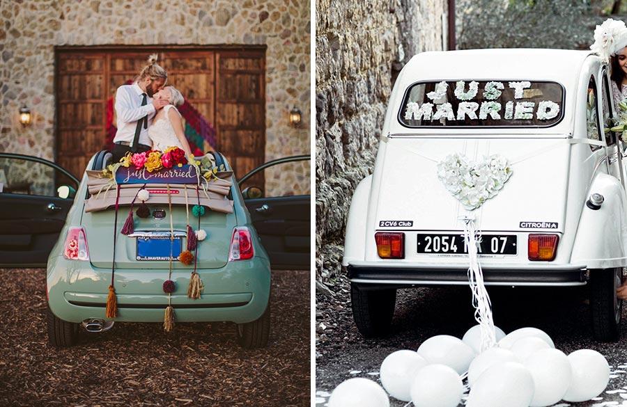 10 способов украсить машину на свадьбу своими руками 13