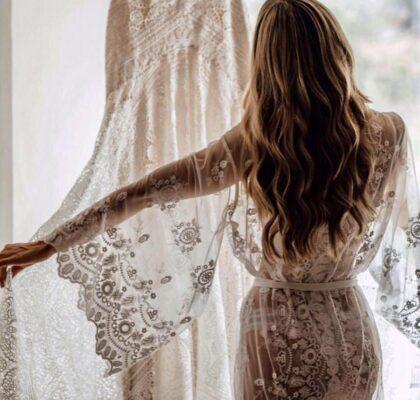 15 красивых пеньюаров для утра невесты