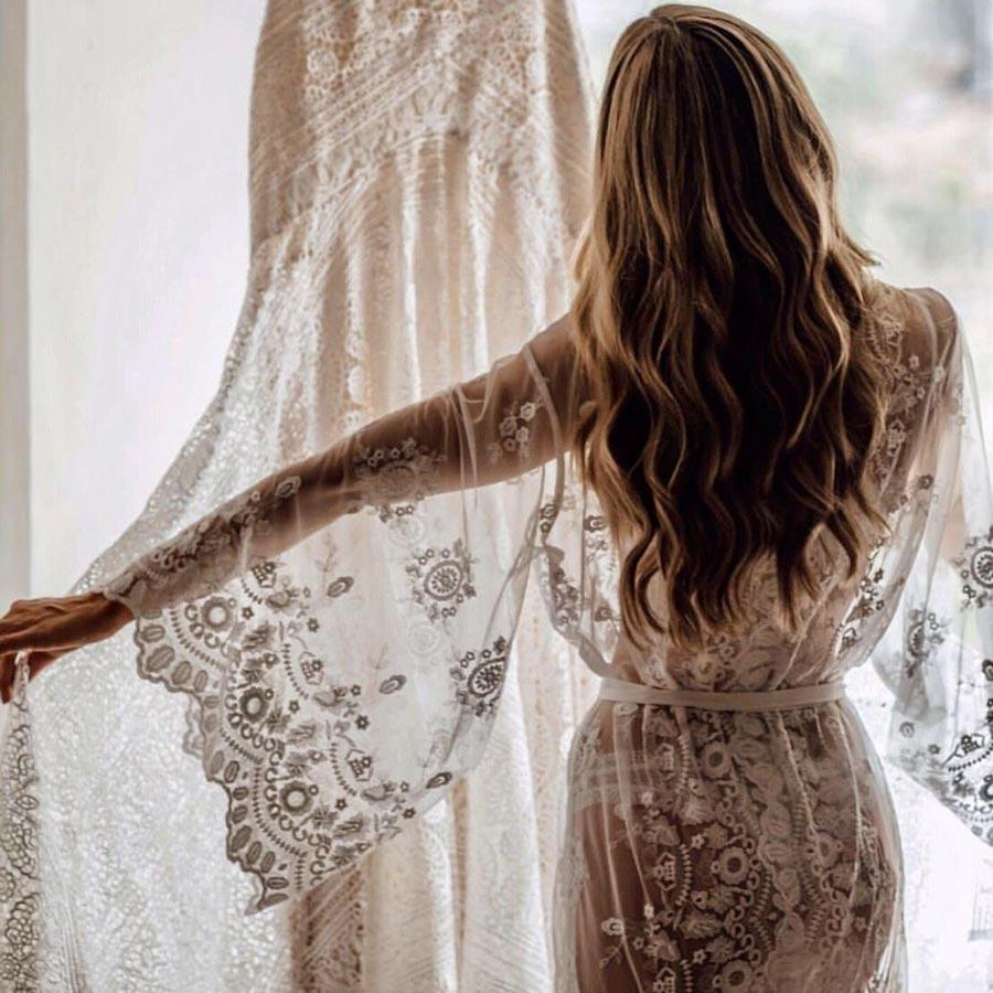 15 красивых пеньюаров для утра невесты 16